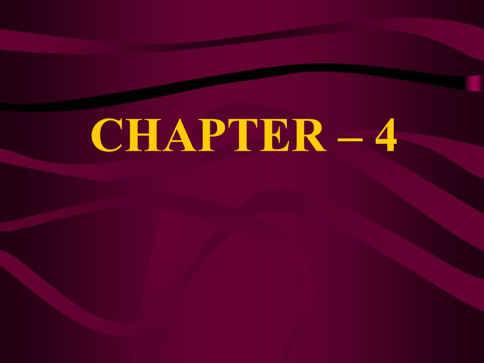 CHAPTER – 4