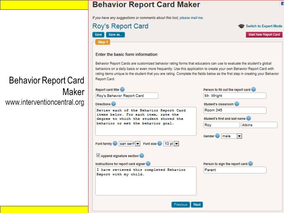report card maker