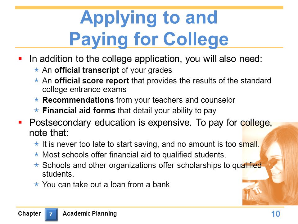 Applying to and Paying for College