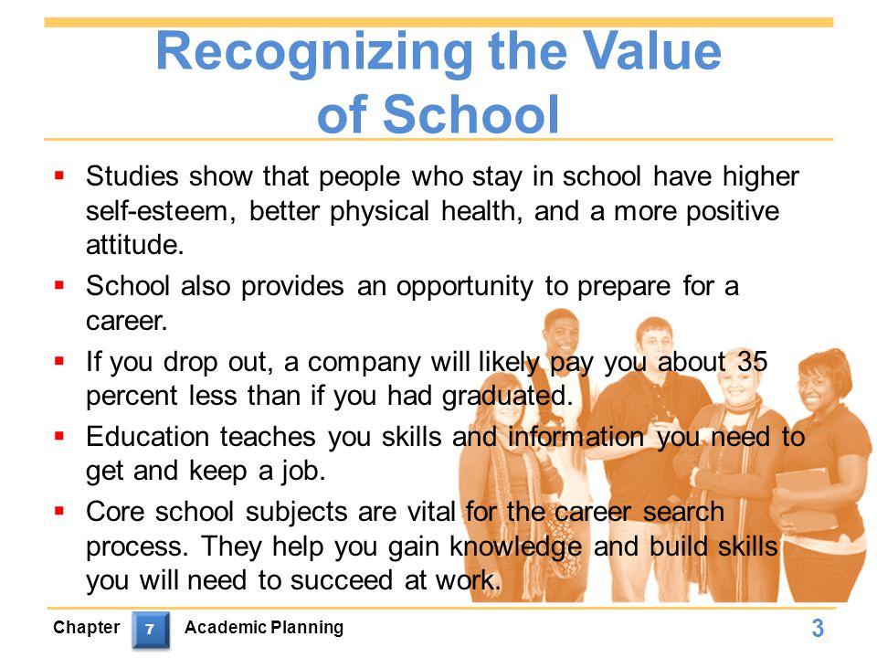 Recognizing the Value of School