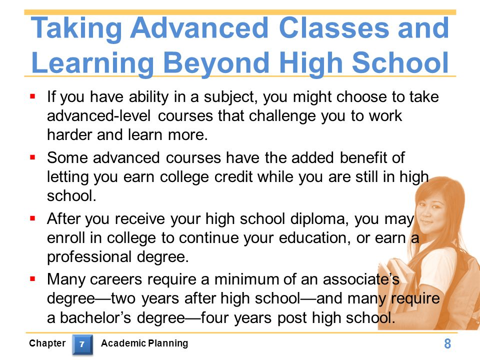 Taking Advanced Classes and Learning Beyond High School