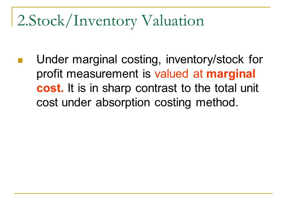2.Stock/Inventory Valuation