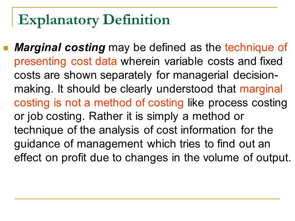 Explanatory Definition