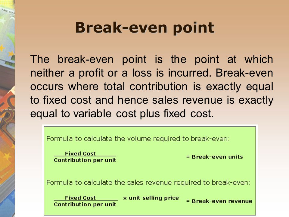 marginal costing and cost-volume-profit analysis
