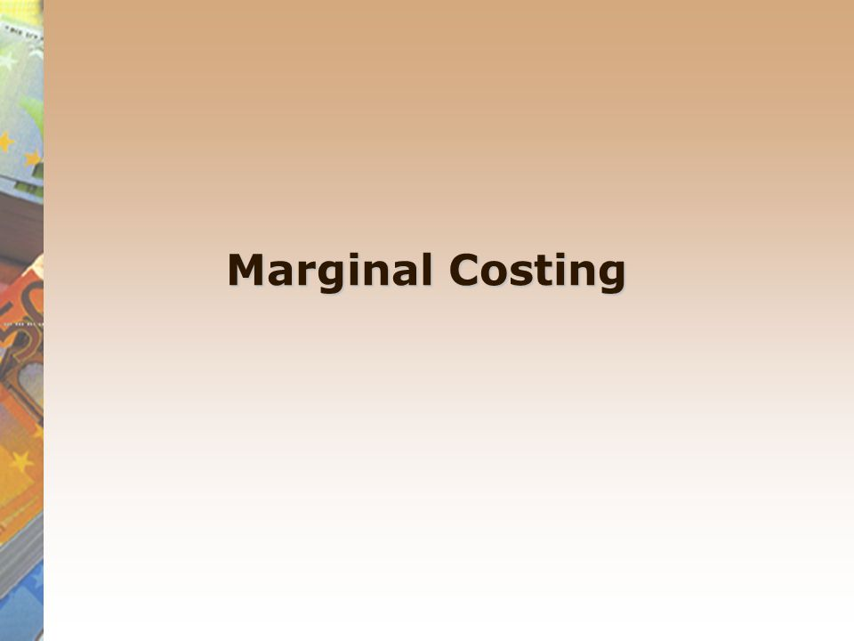 marginal costing case study This research work examines the importance of application of marginal costing  technique in a manufacturing company using nestle nigeria plc as a case study.