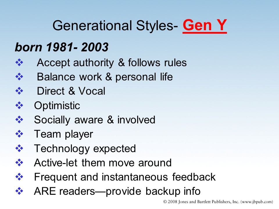 learning styles of the generation y Generation y (millennials) is the fastest growing segment of the workforce discover the characteristics of these workers and how best to manage them.