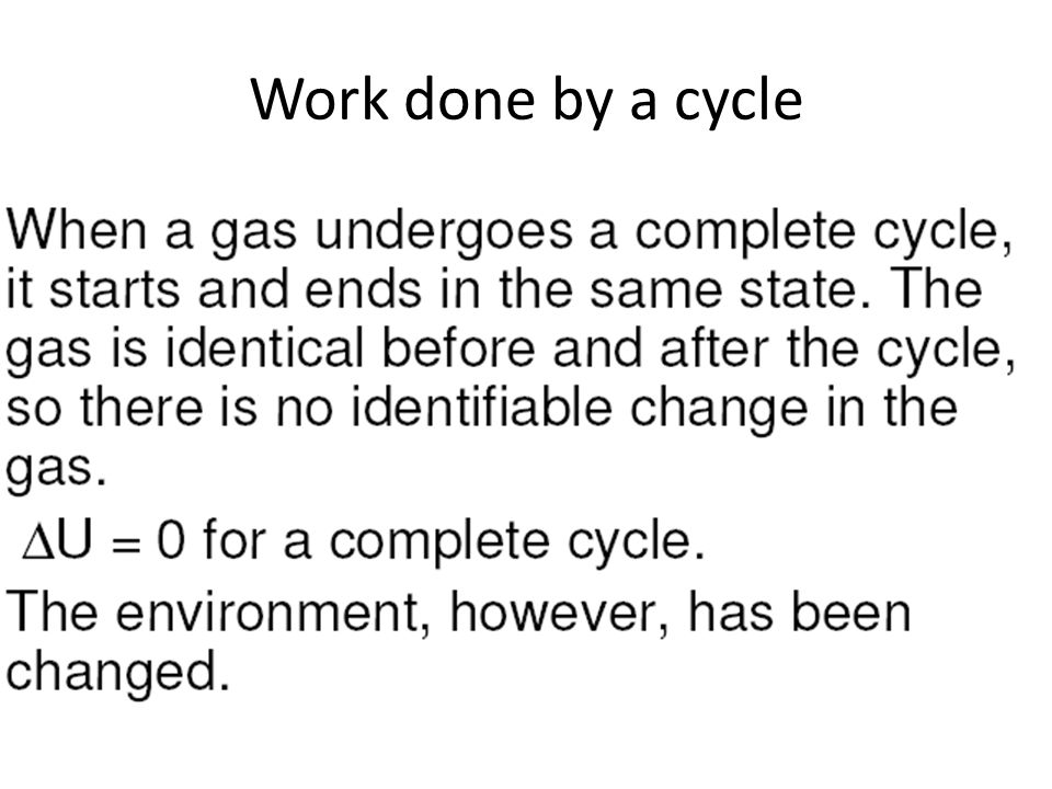 Work done by a cycle