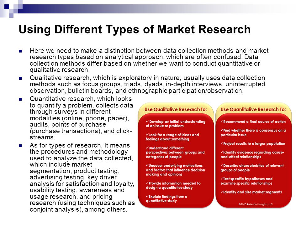 different types of market research techniques In honor of throwback thursday, take a look back at the four different market  research methods you can use to uncover helpful insights from.