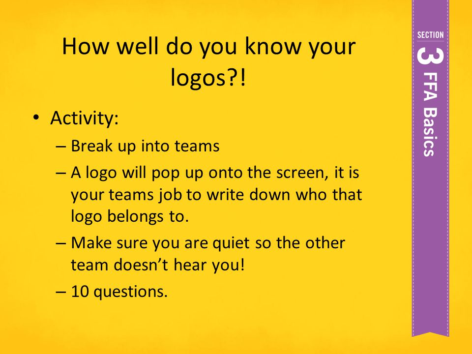 How well do you know your logos !