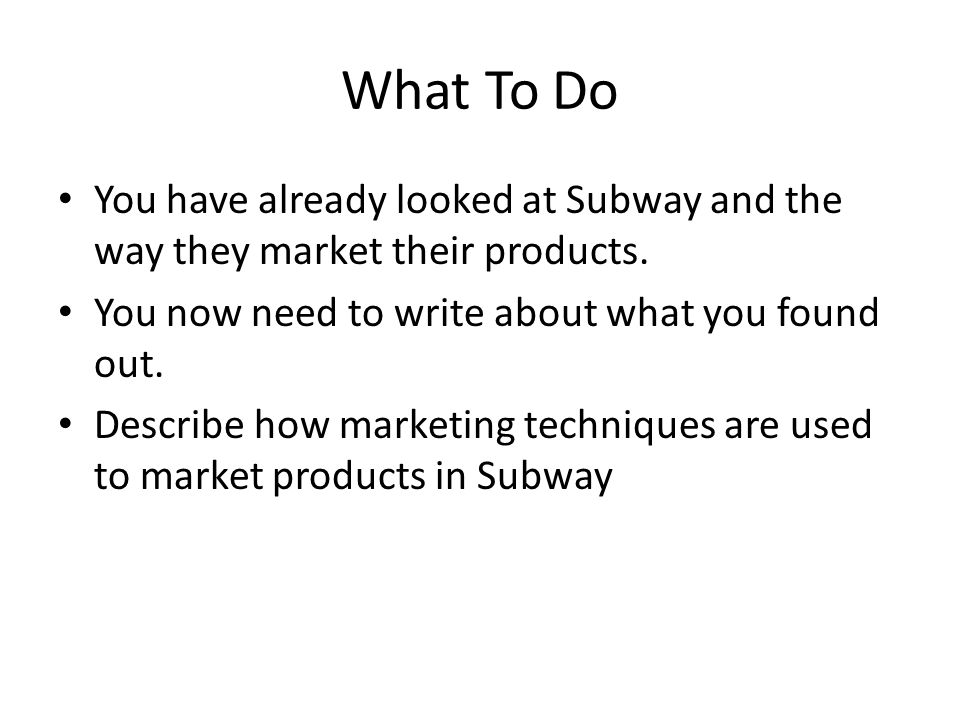 p1 describe marketing techniques used in Introduction to marketing - p1 introduction to marketing  marketing techniques – describe the growth and survival strategies,.