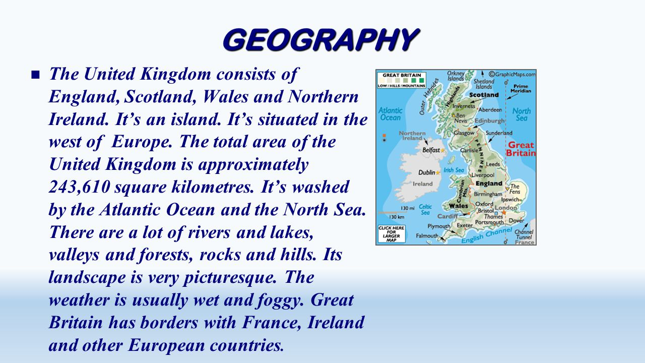 The United Kingdom consists of England, Scotland, Wales and Northern Ireland.