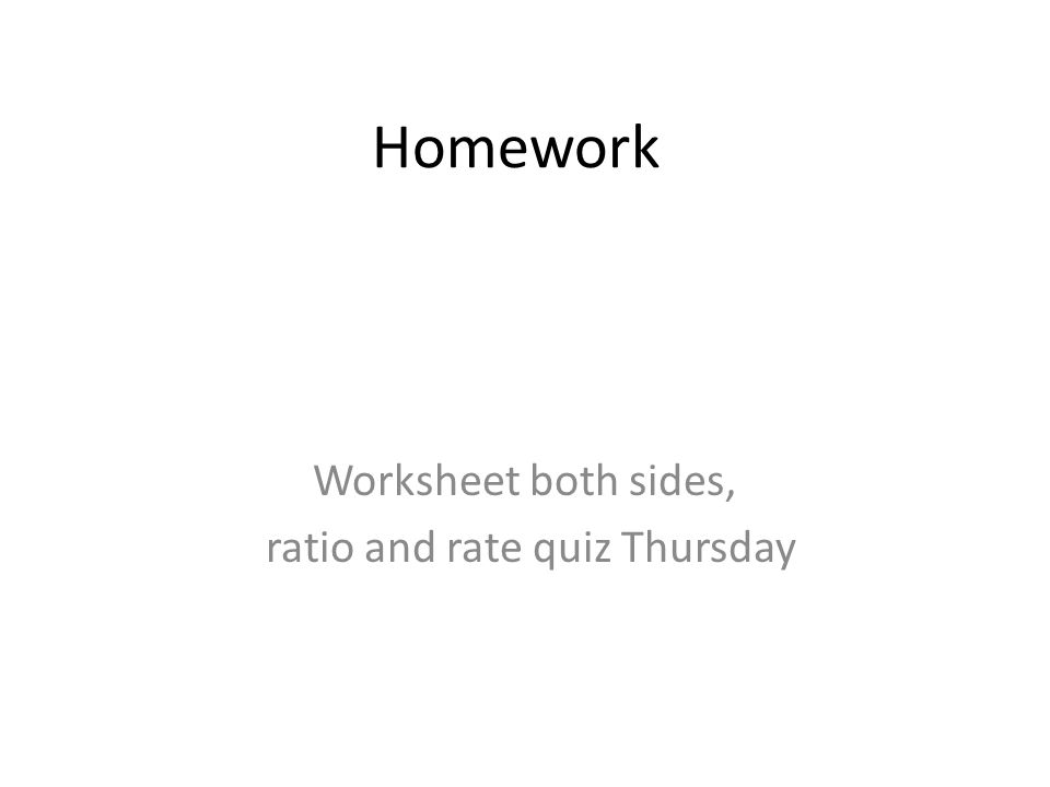 Worksheet both sides ratio and rate quiz Thursday ppt download – Gear Ratio Worksheet