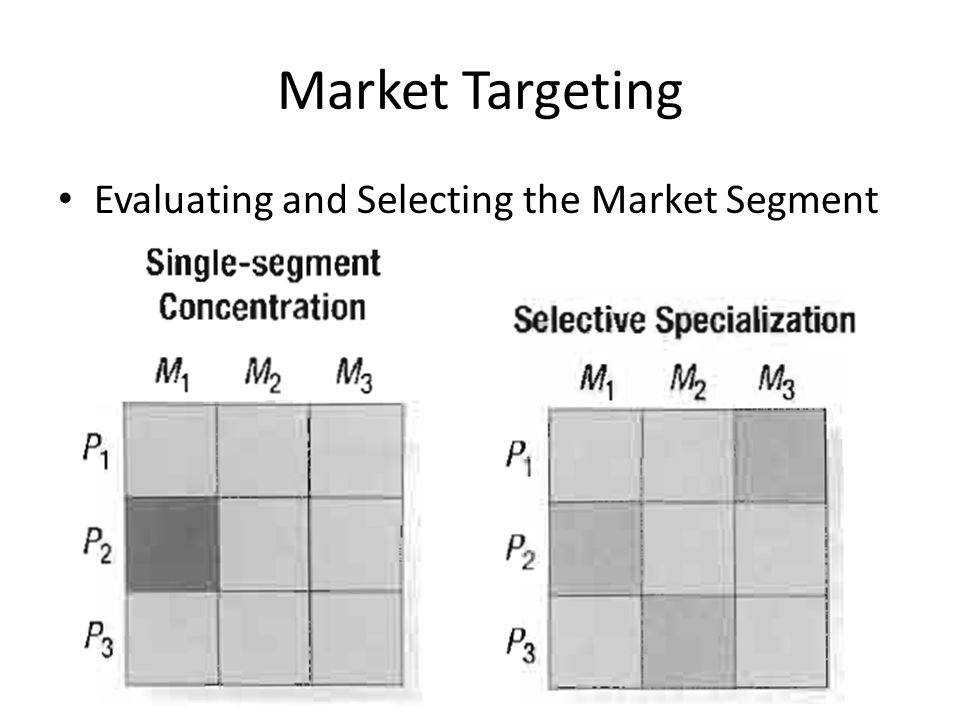 Market Targeting Evaluating and Selecting the Market Segment