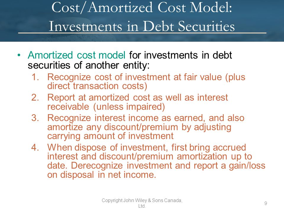 cost of investing in securities pdf