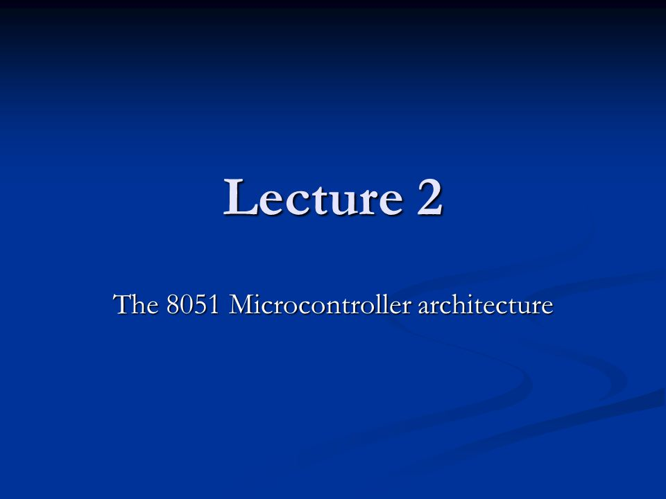 The 8051 microcontroller architecture ppt video online for Architecture 8051