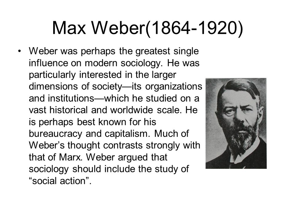 Sociology of Religion: Max Weber