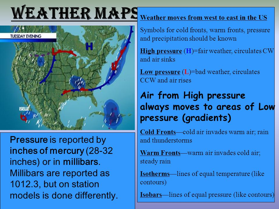 Us Weather Map With Station Models