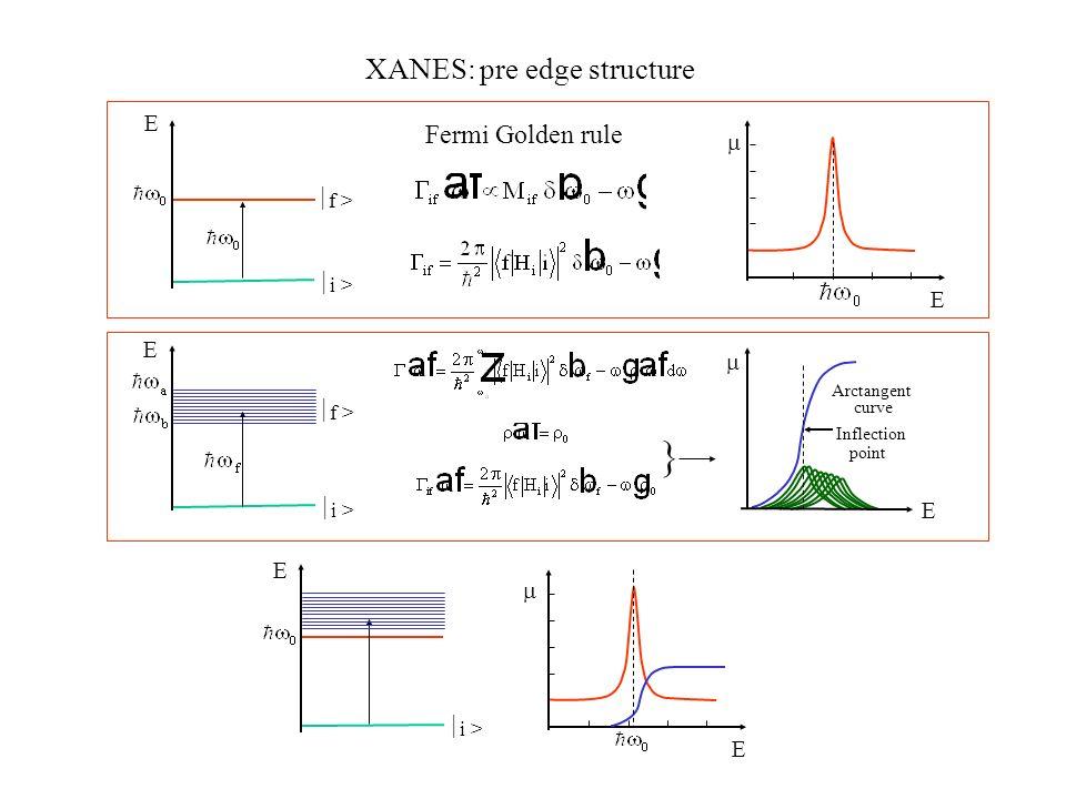 XANES: pre edge structure