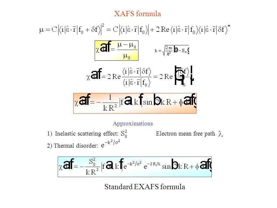 Standard EXAFS formula