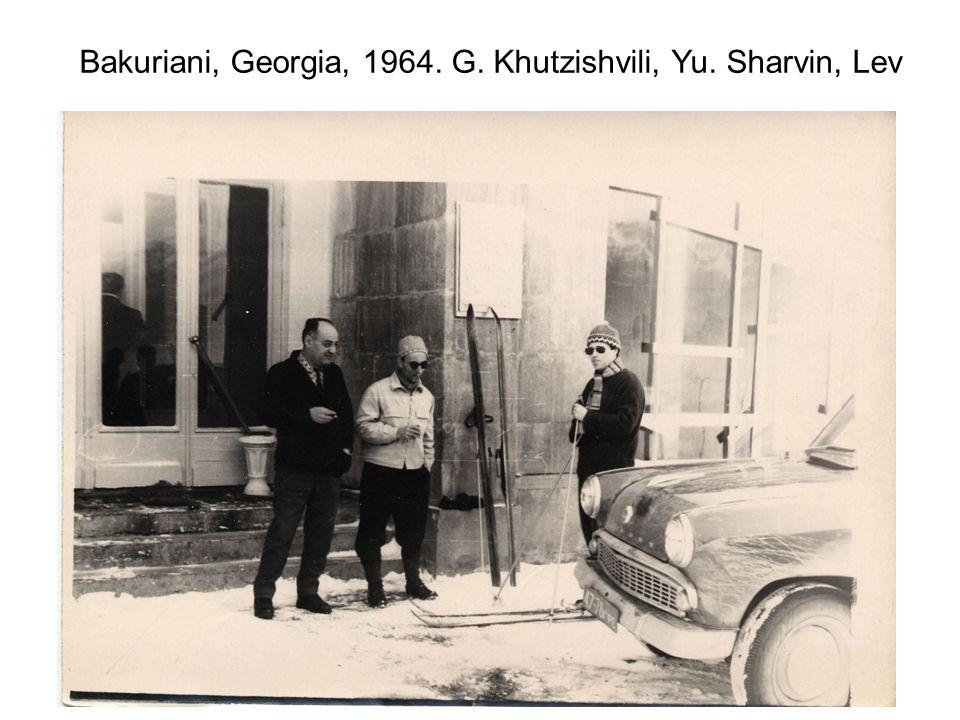 Bakuriani, Georgia, 1964. G. Khutzishvili, Yu. Sharvin, Lev