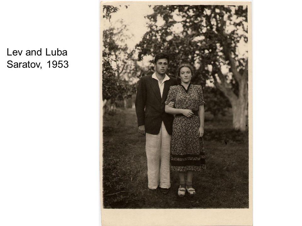 Lev and Luba Saratov, 1953