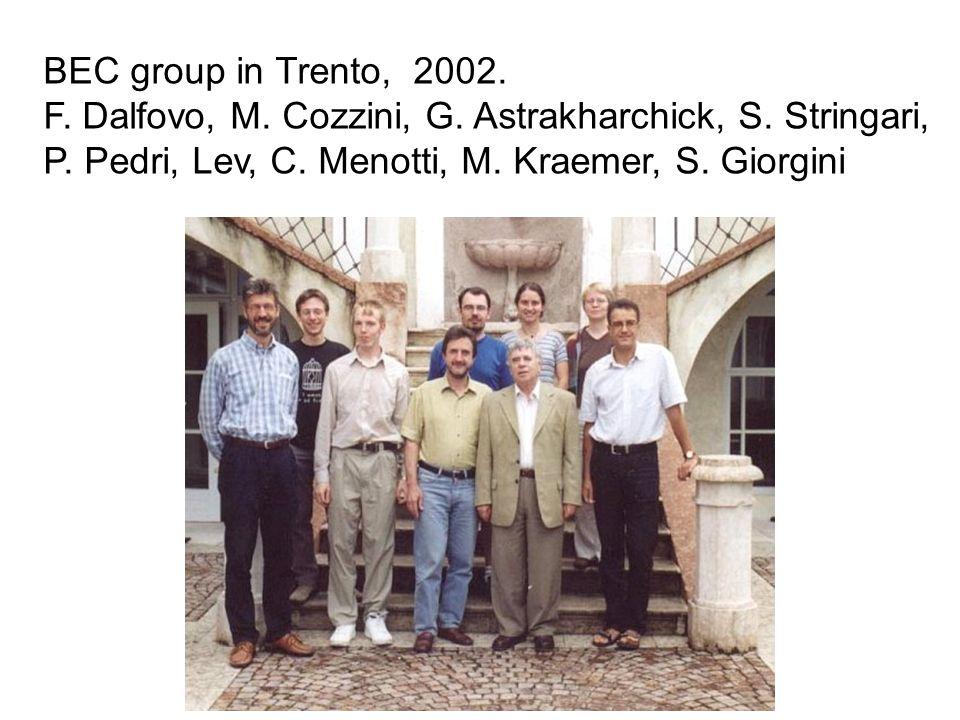 BEC group in Trento, 2002. F. Dalfovo, M. Cozzini, G.