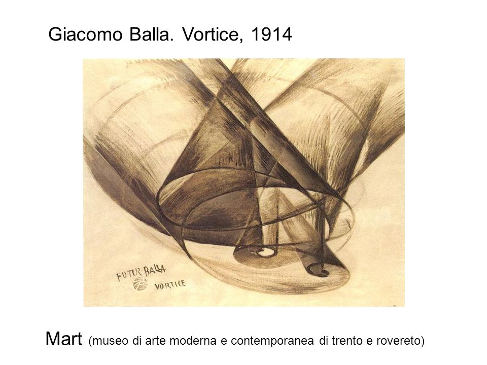 Giacomo Balla. Vortice, 1914 Mart (museo di arte moderna e contemporanea di trento e rovereto)