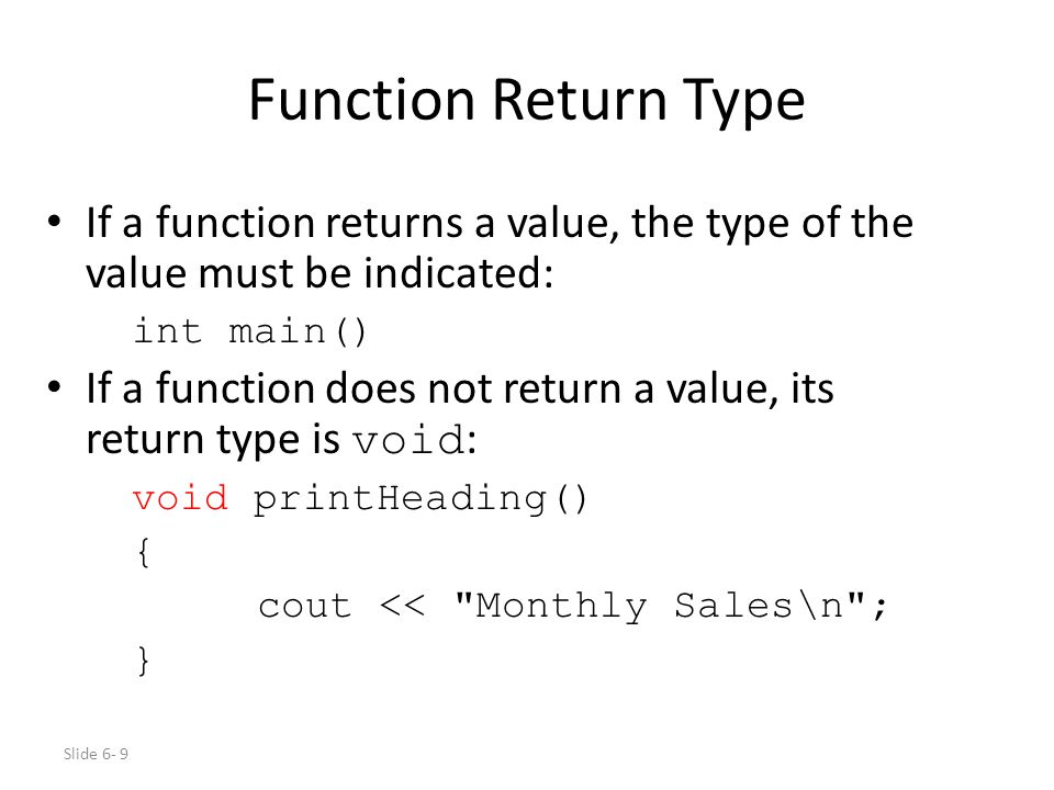 how to return a value in c