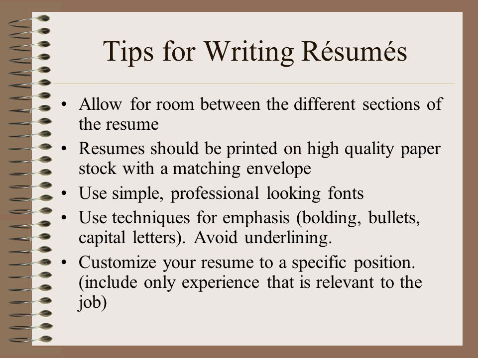 Profile In A Resume Rsums A Section By Section Guide To Writing Your Customized  Skill For Resume with New Cna Resume Word Tips For Writing Rsums Power Words Resume
