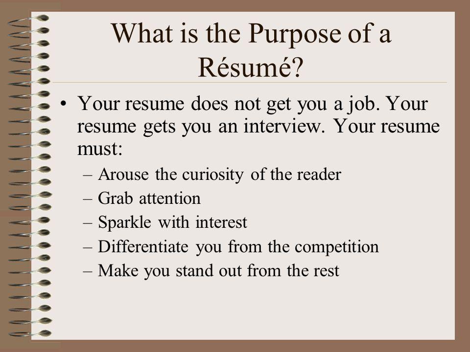 What Is The Purpose Of A Résumé
