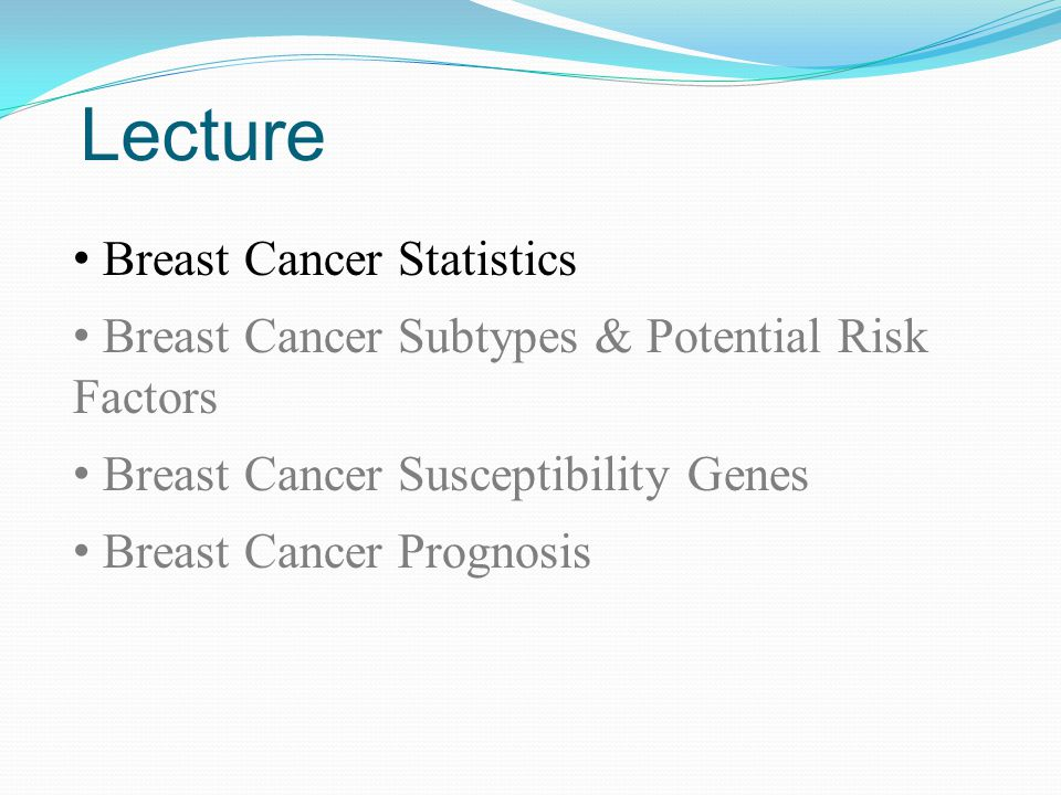 Genetic susceptibility to breast cancer