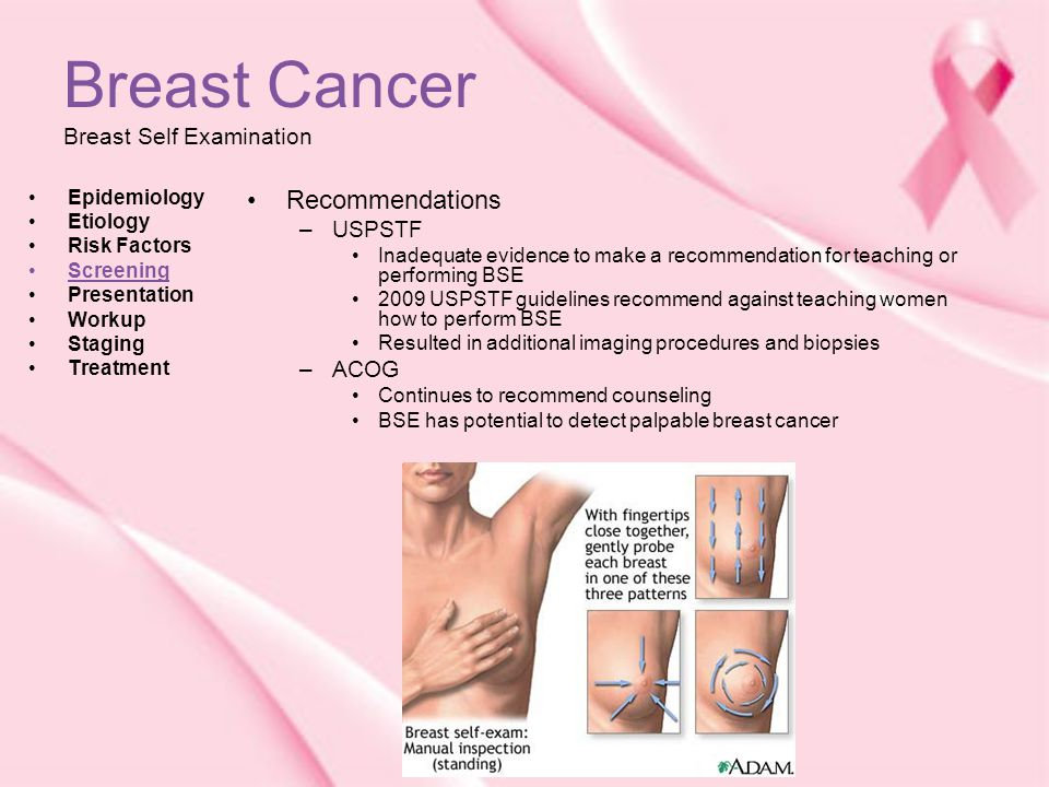 Acog screening for breast ca