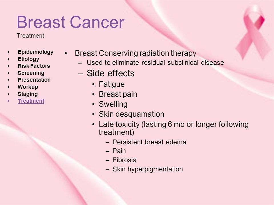 Long term effects radiation breast cancer