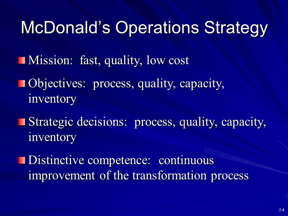 McDonald's Operations Strategy