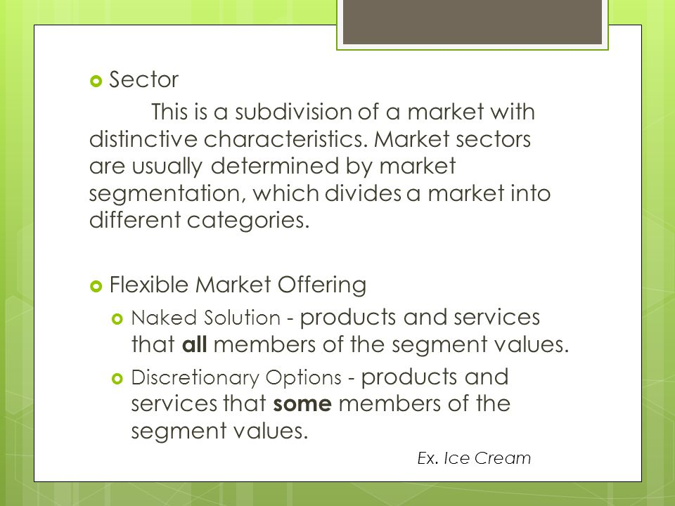 Flexible Market Offering