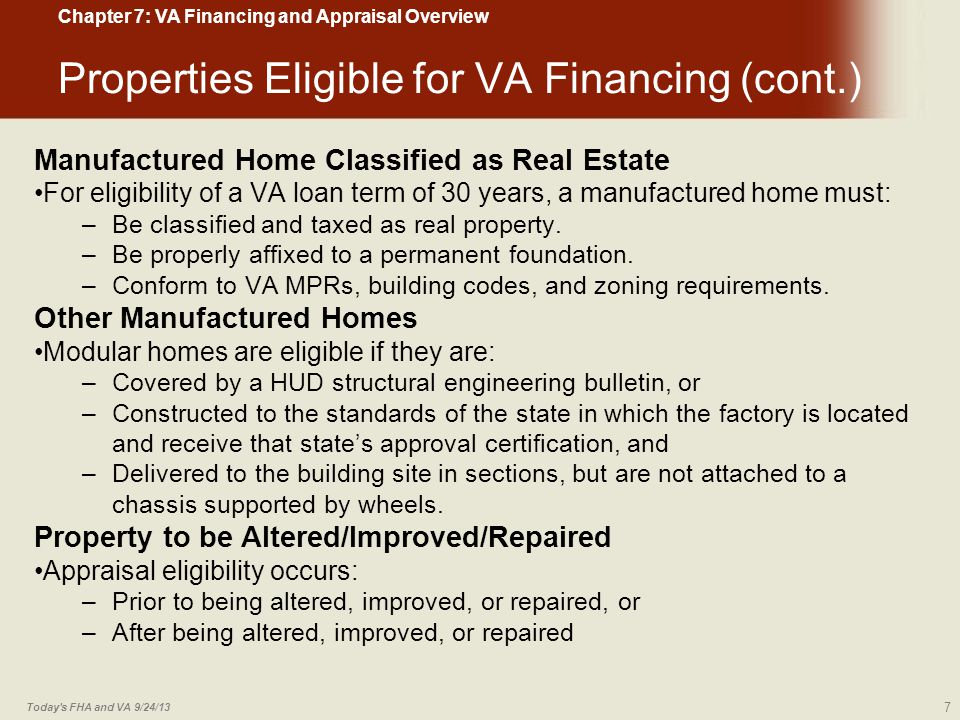 Lowest Floor Elevation Inspection : Va financing and appraisal overview ppt download