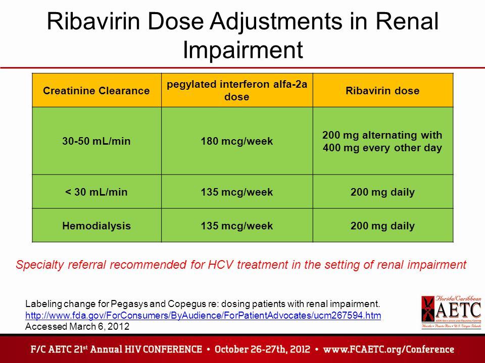 Interferon And Ribavirin Dosage