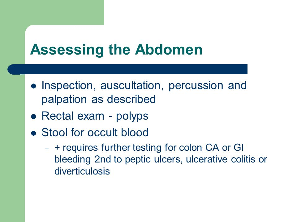 Assessing Clients With Bowel Elimination Disorders Ppt