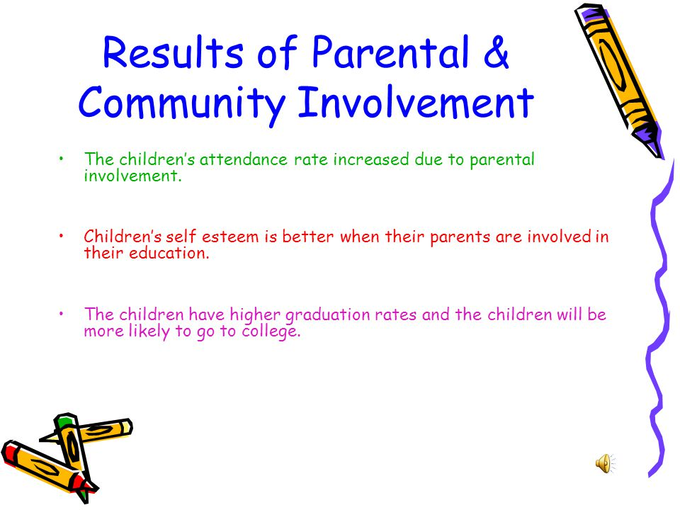 Results of Parental & Community Involvement