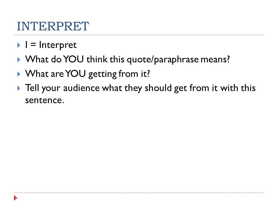 peer review of analysis essay ppt 6 interpret