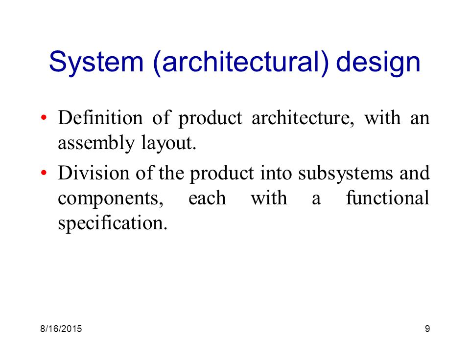 Development processes and organizations ppt download for Anarchitecture definition