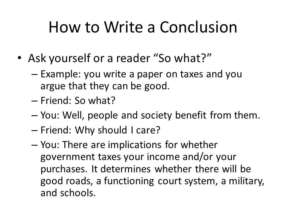 how to write conclusions for research papers