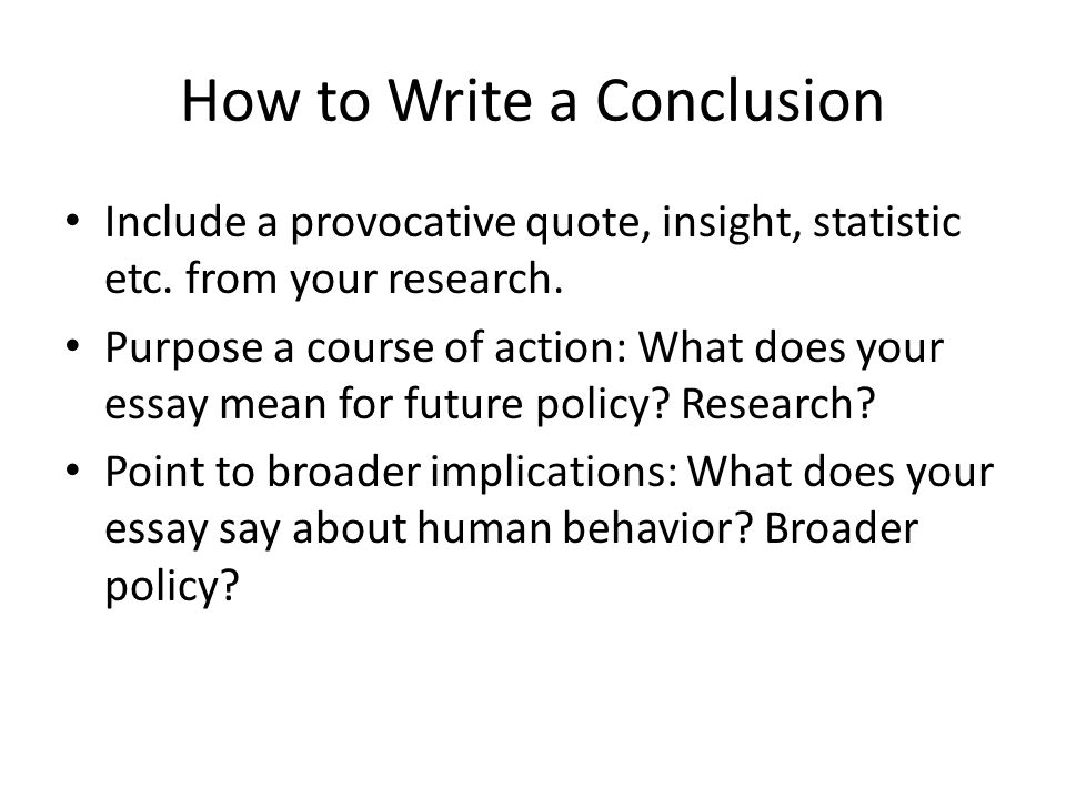 How to Write an Implications & Conclusion Summary