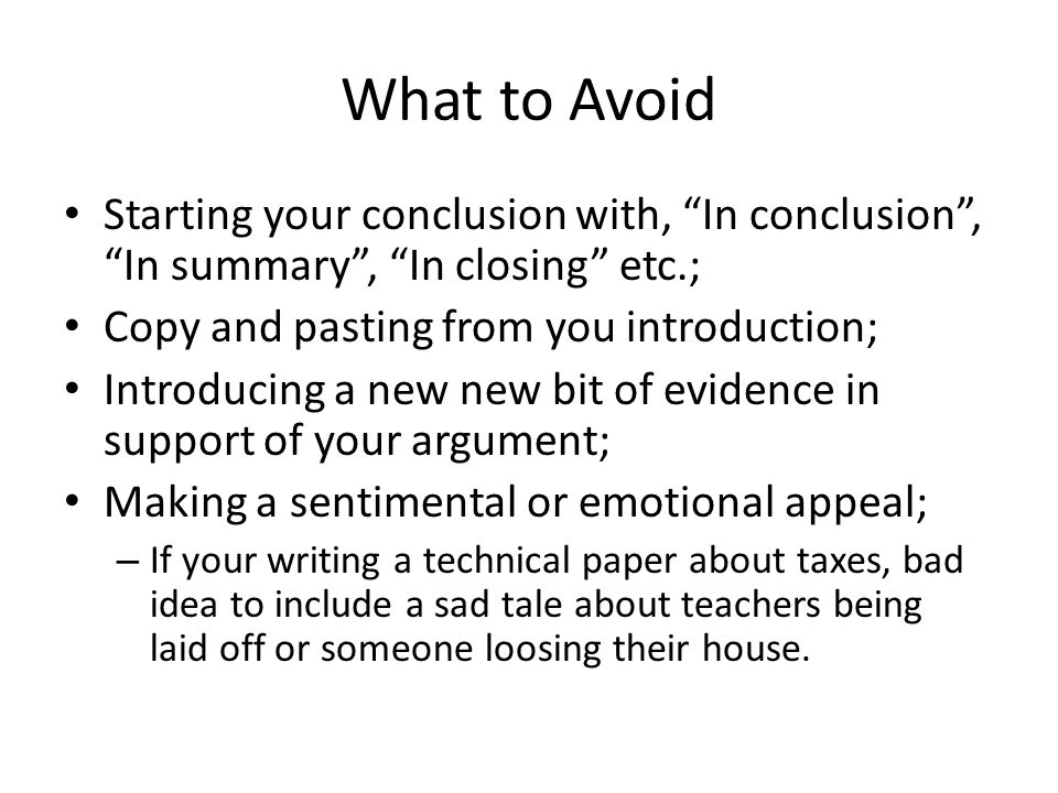 How to avoid summarizing in an essay