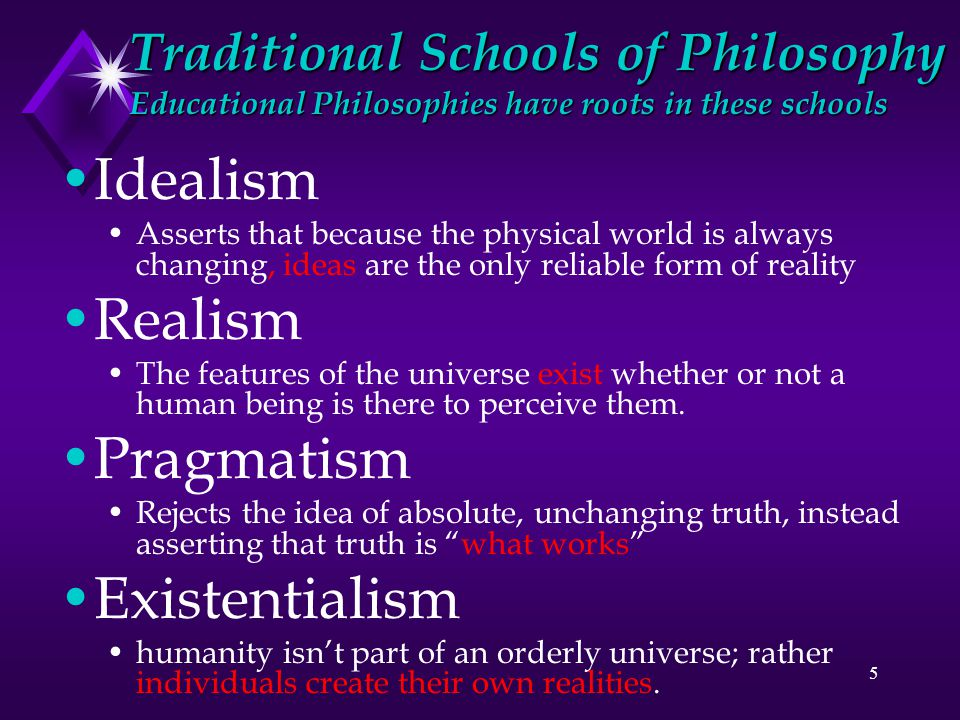 educational philosophy and idealism The philosophy of education examines the goals, forms, methods, and meaning of education the term is used to describe both fundamental philosophical analyses of these themes and the.