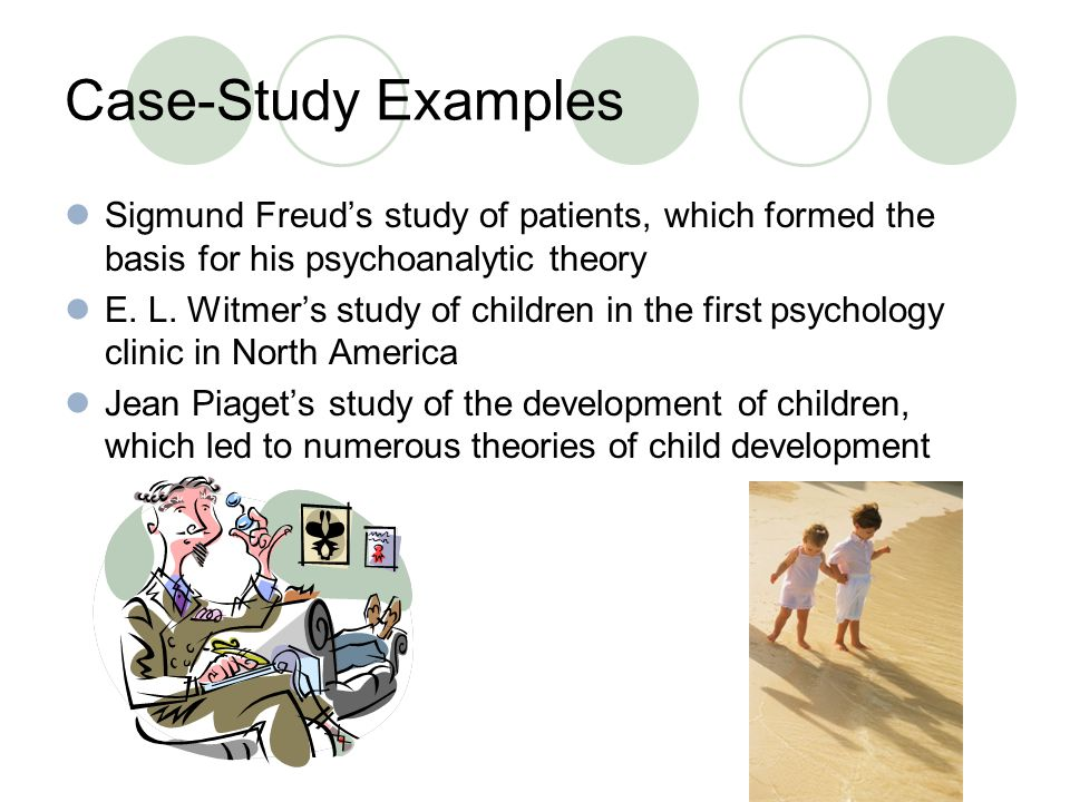 an observation study Research psychology encompasses the study of behavior for use in academic settings, and contains numerous areas it contains the areas of abnormal psychology.