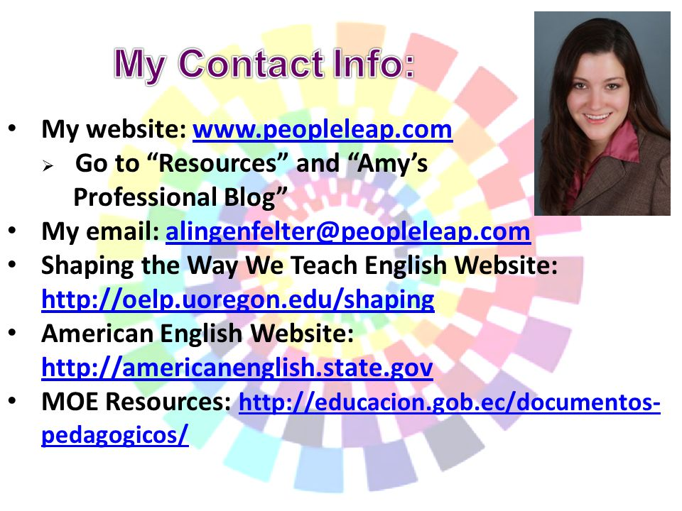 English language and amy
