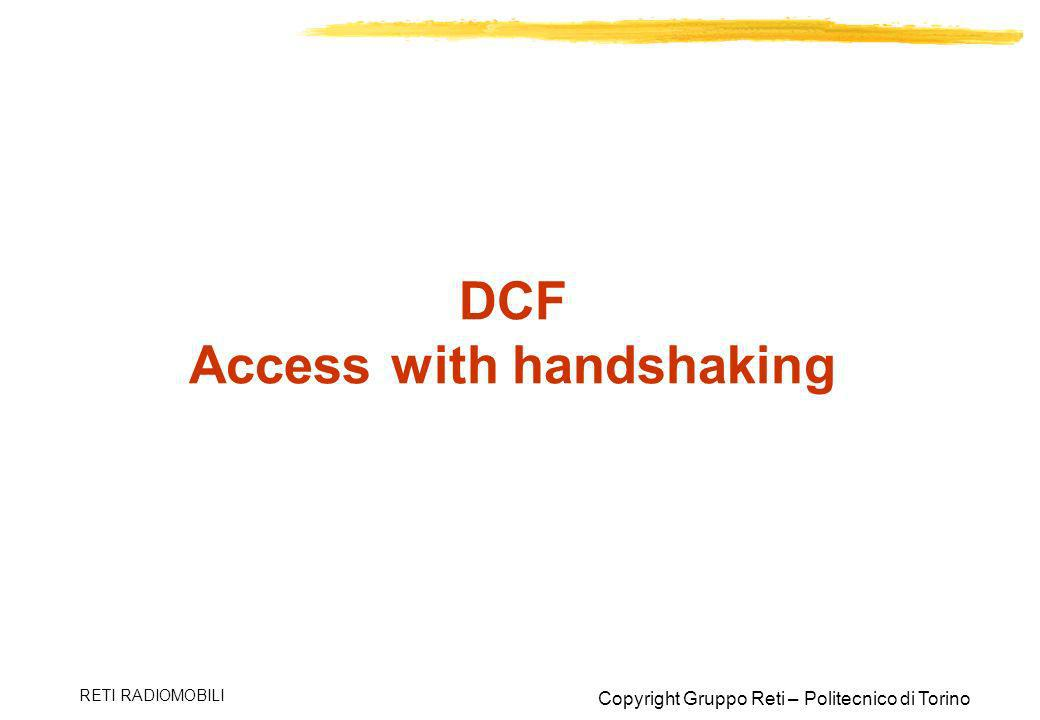 DCF Access with handshaking
