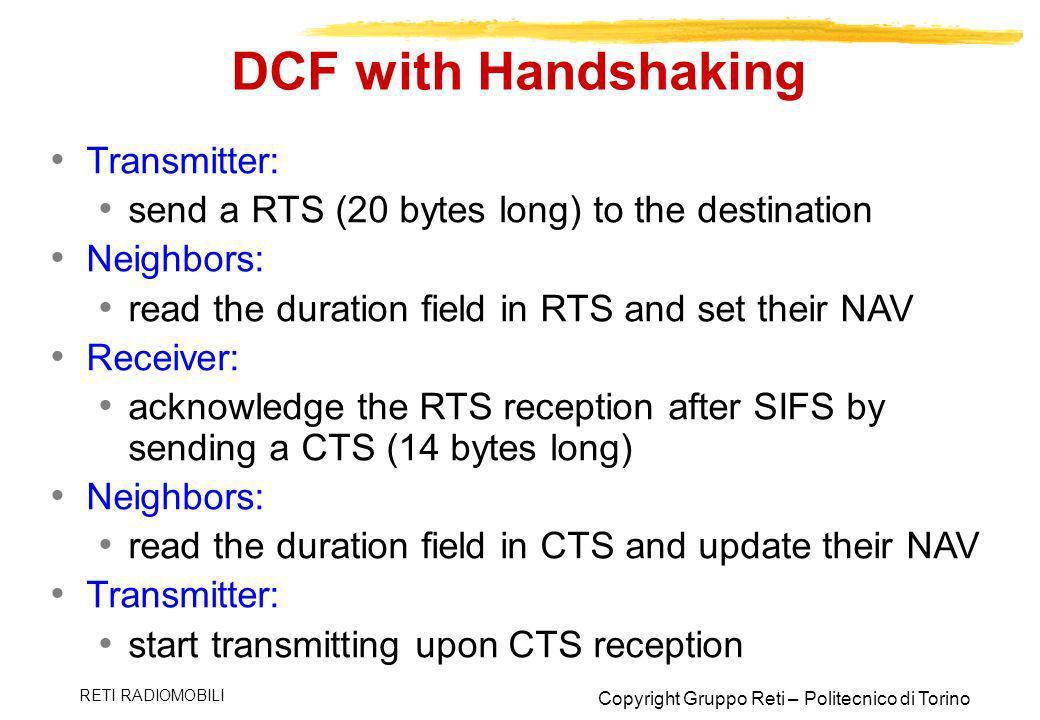 DCF with Handshaking Transmitter: