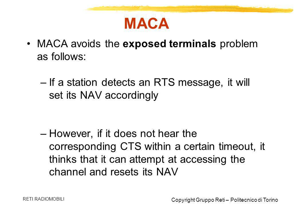 MACA MACA avoids the exposed terminals problem as follows: